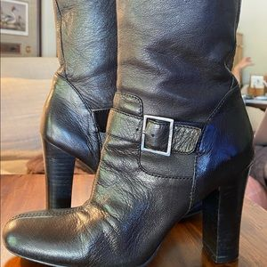 Calvin Klein Leather Boots - Size 6.